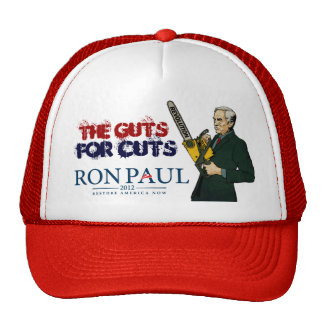 Ron Paul Guts for Cuts Hat