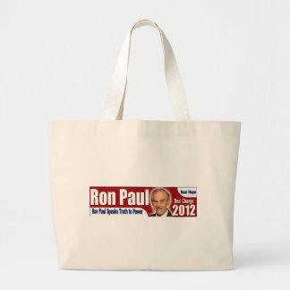 Ron Paul habla verdad al poder Bolsas Lienzo