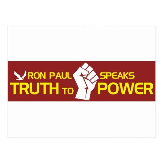 Ron Paul habla verdad al poder Postal