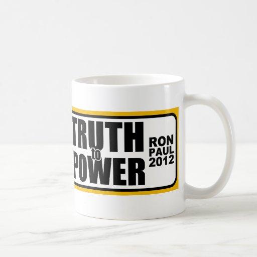 Ron Paul habla verdad al poder Taza De Café