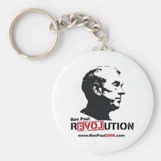 Ron Paul hace frente a la plantilla - revolución Llavero Redondo Tipo Pin