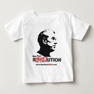 Ron Paul hace frente a la plantilla - revolución Playera De Bebé