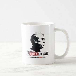Ron Paul hace frente a la plantilla - revolución Taza De Café