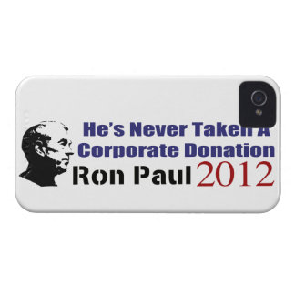 Ron Paul Has Never Taken A Corporate Donation iPhone 4 Case-Mate Case