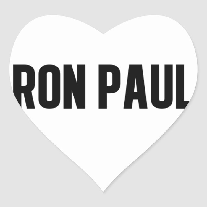 Ron Paul Heart Sticker
