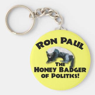Ron Paul - Honey Bader 2012 Basic Round Button Keychain