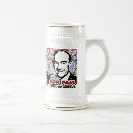 RON PAUL Hope For America Beer Stein