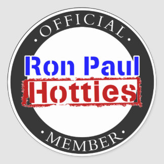 Ron Paul Hotties Gear Classic Round Sticker
