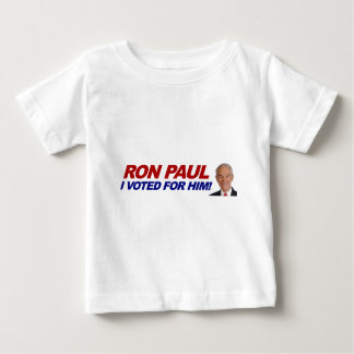 Ron Paul I voted for him - election president Baby T-Shirt