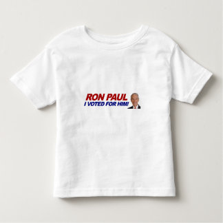 Ron Paul I voted for him - election president Toddler T-shirt
