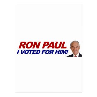 Ron Paul I votó por él - al presidente de la elecc Postales