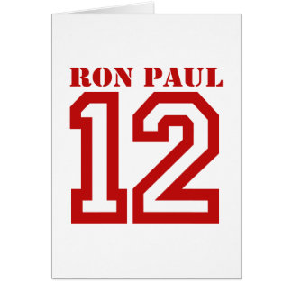 RON PAUL IN '12 CARD