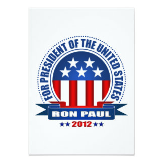 Ron Paul Invitaciones Personalizada