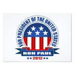 Ron Paul Invitación 12,7 X 17,8 Cm