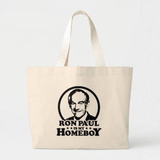 Ron Paul Is My Homeboy Tote Bag