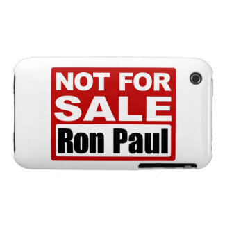 Ron Paul is Not For Sale Sign Case-Mate iPhone 3 Cases