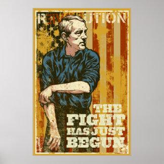 Ron Paul la lucha acaba de comenzar el poster Póster