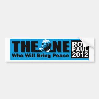 Ron Paul: La persona que traerá paz Pegatina Para Auto