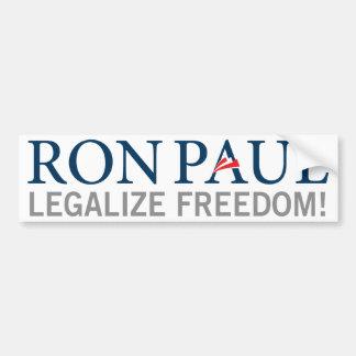 Ron Paul legaliza a la pegatina para el parachoque Pegatina De Parachoque