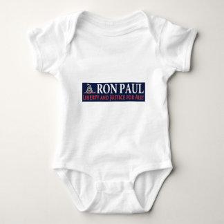 Ron Paul: Libertad y justicia para TODOS Body Para Bebé