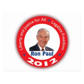Ron Paul: Libertad y justicia para TODOS Tarjeta Postal