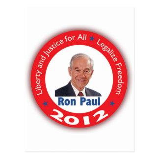 Ron Paul: Libertad y justicia para TODOS Tarjetas Postales