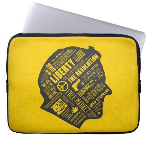 "Ron Paul Libertarian Abstract Thought 13"" Sleeve Laptop Sleeve"