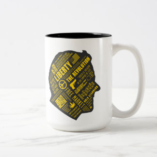 Ron Paul Libertarian Abstract Thought 2-Tone Mug