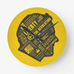 Ron Paul Libertarian Abstract Thought Clock