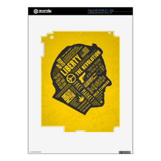 Ron Paul Libertarian Abstract Thought iPad 3 Skin
