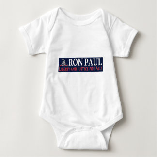 Ron Paul: Liberty and Justice for ALL Baby Bodysuit