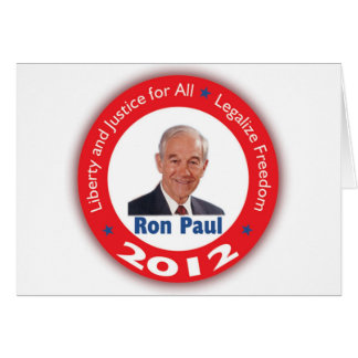 Ron Paul: Liberty and Justice for ALL Greeting Cards