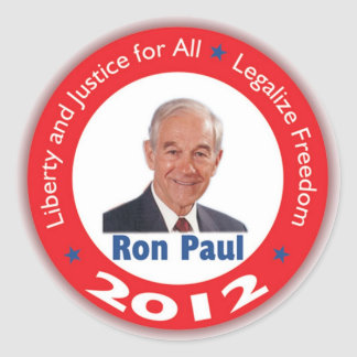 Ron Paul: Liberty and Justice for ALL Classic Round Sticker