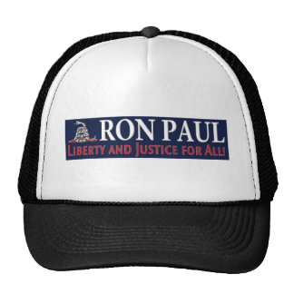 Ron Paul: Liberty and Justice for ALL Hats