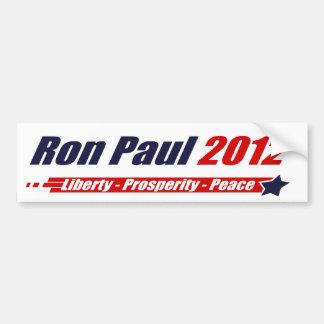 Ron Paul Liberty Prosperity Peace 2012 Bumper Bumper Sticker