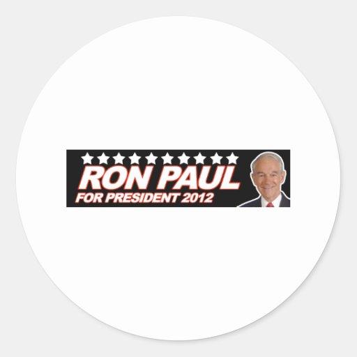 Ron Paul los E.E.U.U. 2012 - voto del presidente Pegatina Redonda