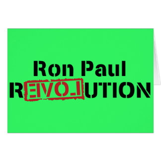 ron paul love revolution greeting card