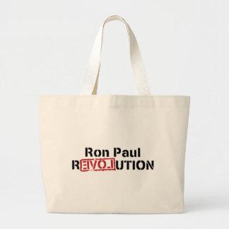 ron paul love revolution large tote bag
