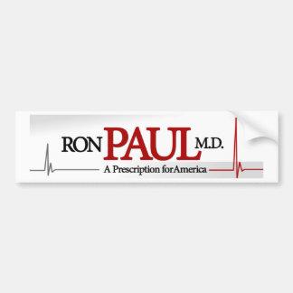 Ron Paul, M.D. Pegatina De Parachoque
