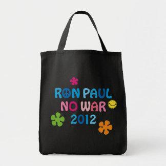 Ron Paul - ninguna guerra - 2012 Bolsa Tela Para La Compra