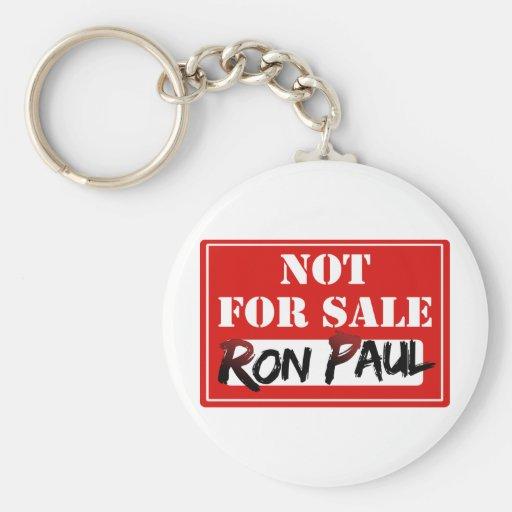 ¡Ron Paul no está PARA LA VENTA!!! Llavero