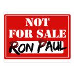 ¡Ron Paul no está PARA LA VENTA!!! Tarjeta Postal