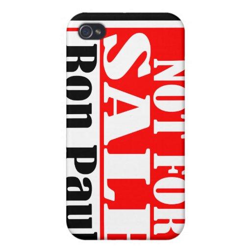 Ron Paul no para la caja de la mota de la venta iPhone 4 Funda
