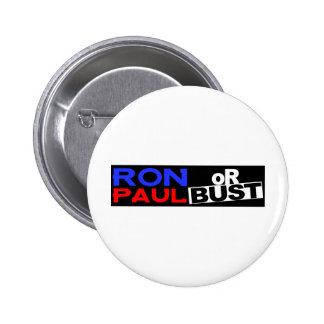 RON PAUL O BUSTO PIN REDONDO DE 2 PULGADAS