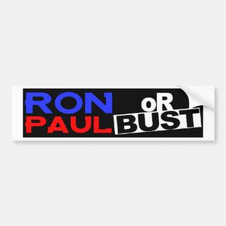 RON PAUL OR BUST BUMPER STICKER