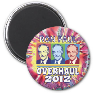 Ron Paul Overhaul 2012 2 Inch Round Magnet