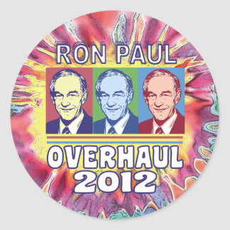 Ron Paul Overhaul 2012 Classic Round Sticker