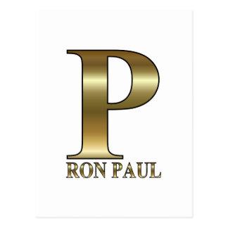 Ron Paul P 2012 Postcard