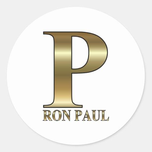 Ron Paul P 2012 Round Stickers