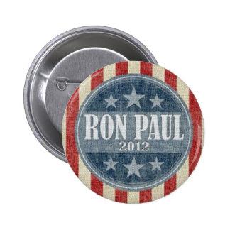 Ron Paul para el botón del presidente 2012 campaña Pin Redondo De 2 Pulgadas